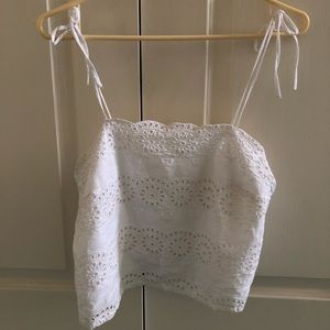 Patrons of Peace Floral Eyelet Cami
